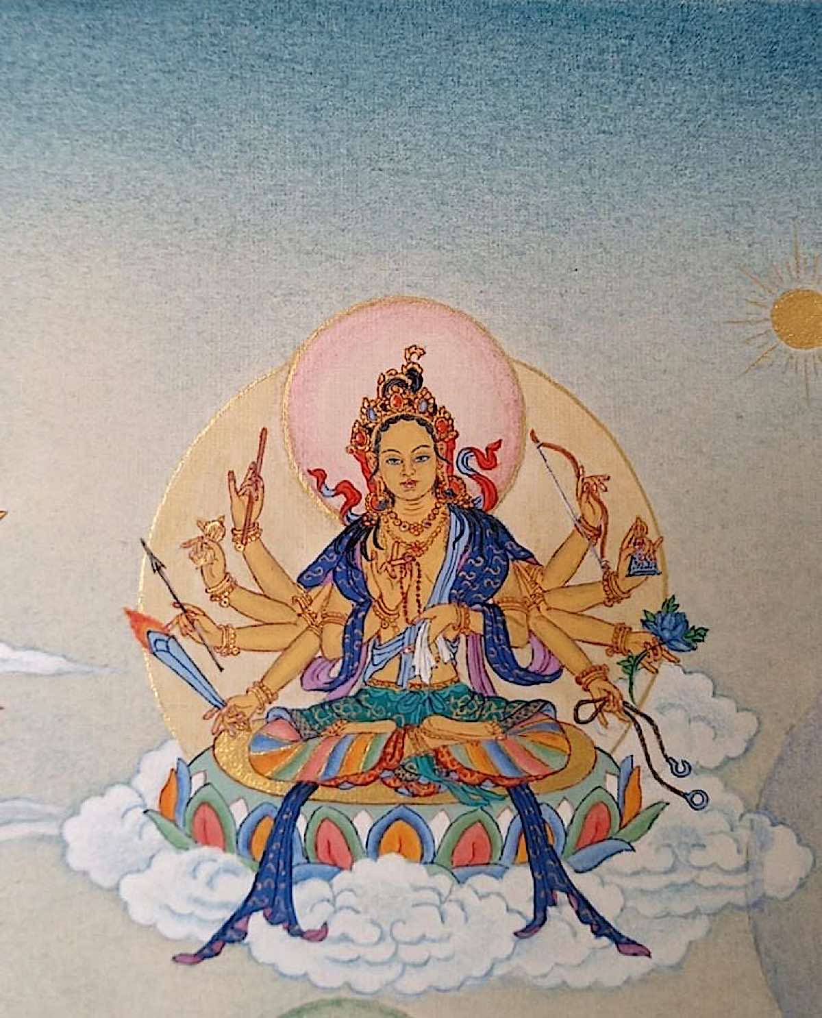 Buddha Weekly 3 Kanaka Varana Tara Golden Colored Tara 21 Taras Thankha by Angeli Lhadripa Shkonda Buddhism