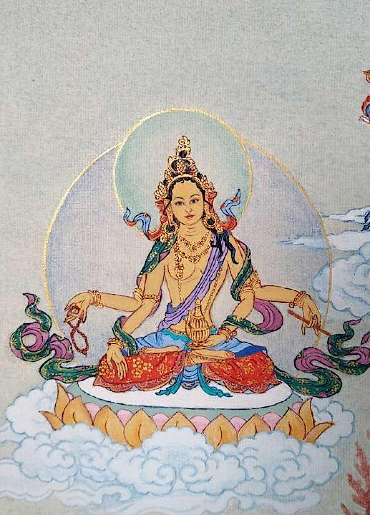 Buddha Weekly 4 Tara the Victorious Usnisa of Tathagatas Usnisa Vijaya Tara 21 Taras Thankha by Angeli Lhadripa Shkonda Buddhism