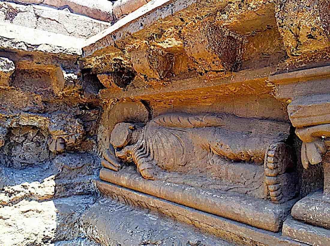 Buddha Weekly 48 feet long sleeping Buddha near Bhamala Stupa Buddhism