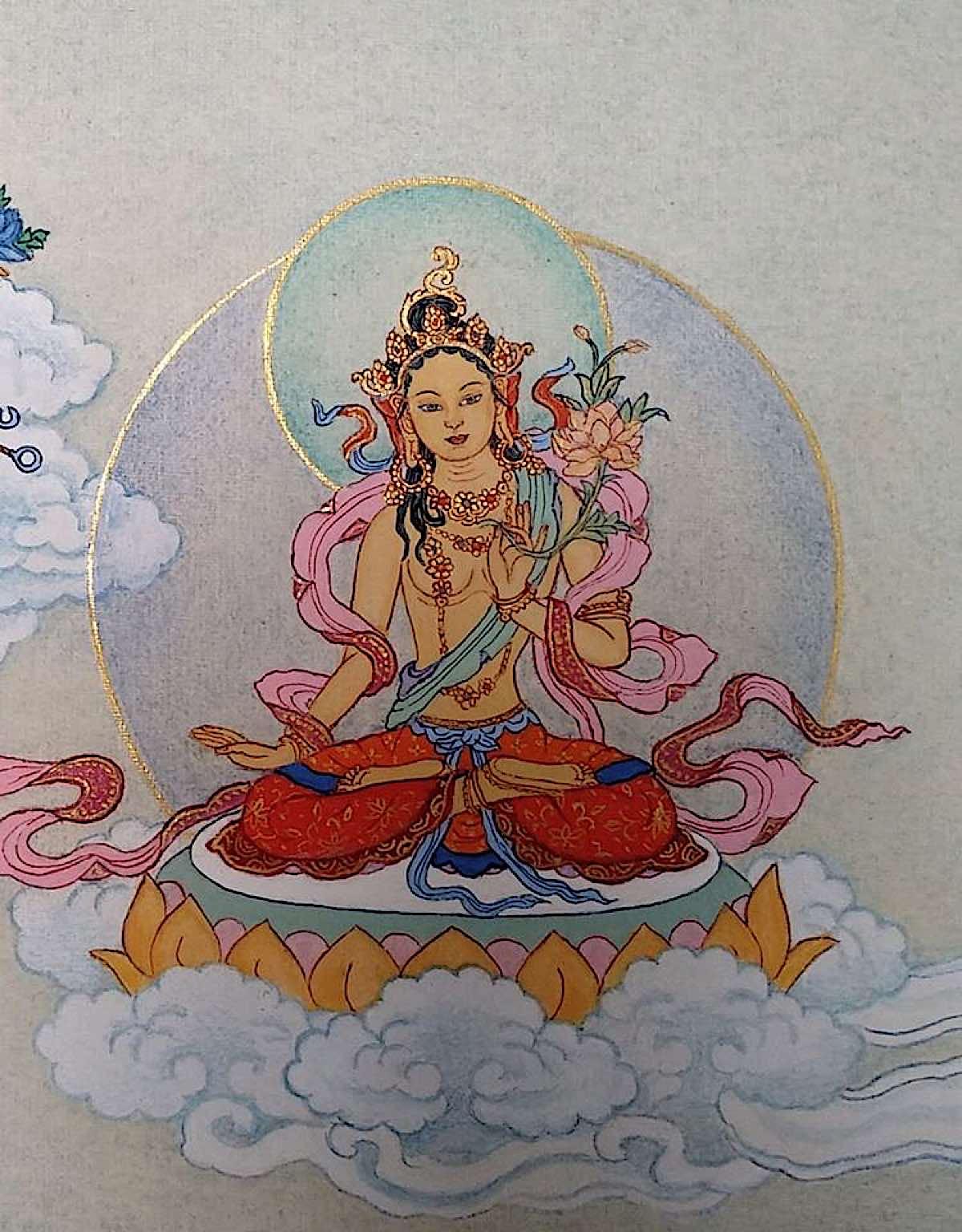 Buddha Weekly 5 Tara Proclaimin the Sound HUM Hum Svara Nadini Tara 21 Taras Thankha by Angeli Lhadripa Shkonda Buddhism