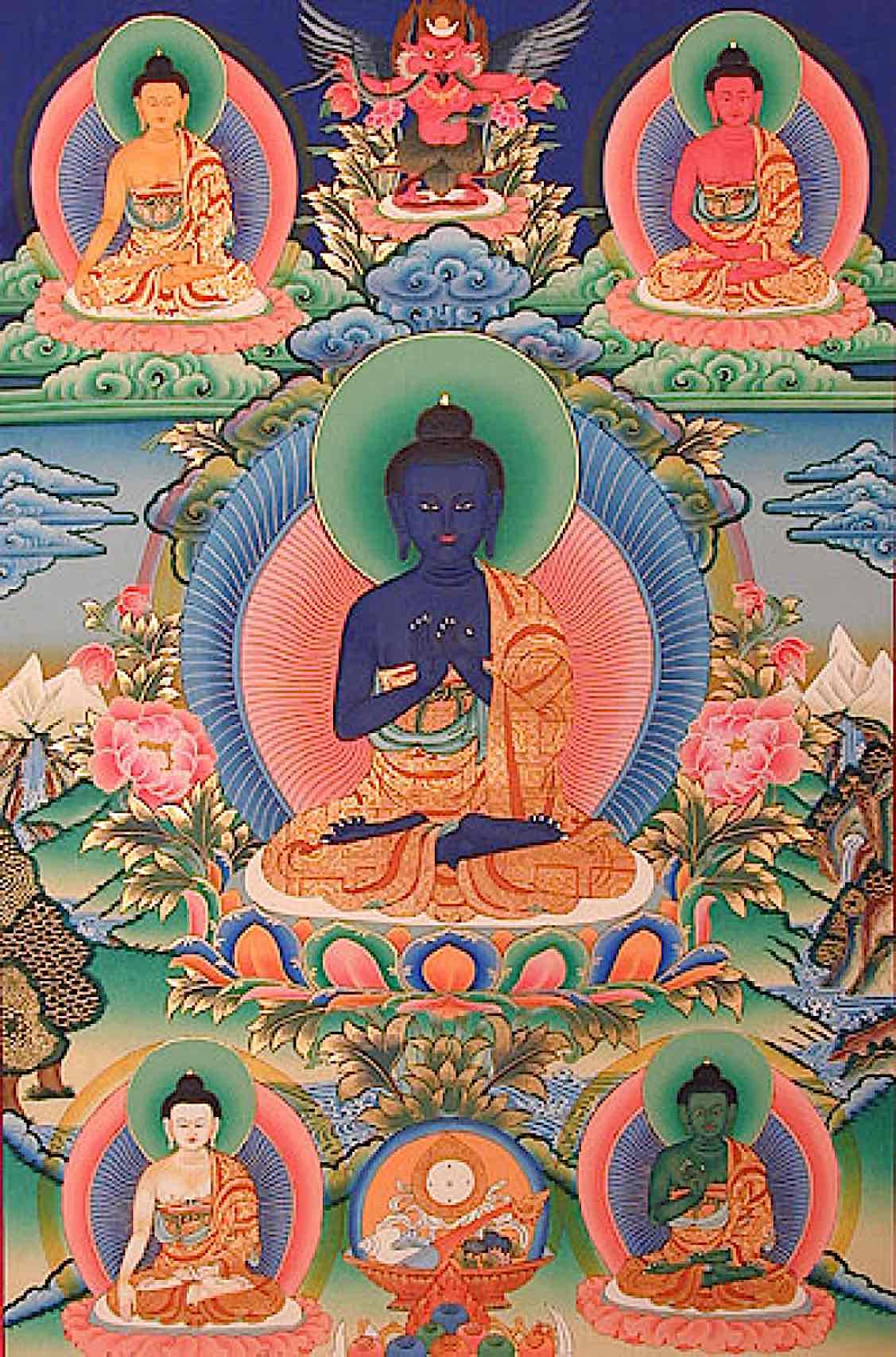 Buddha Weekly 5 buddhas Gelugpa Buddhism