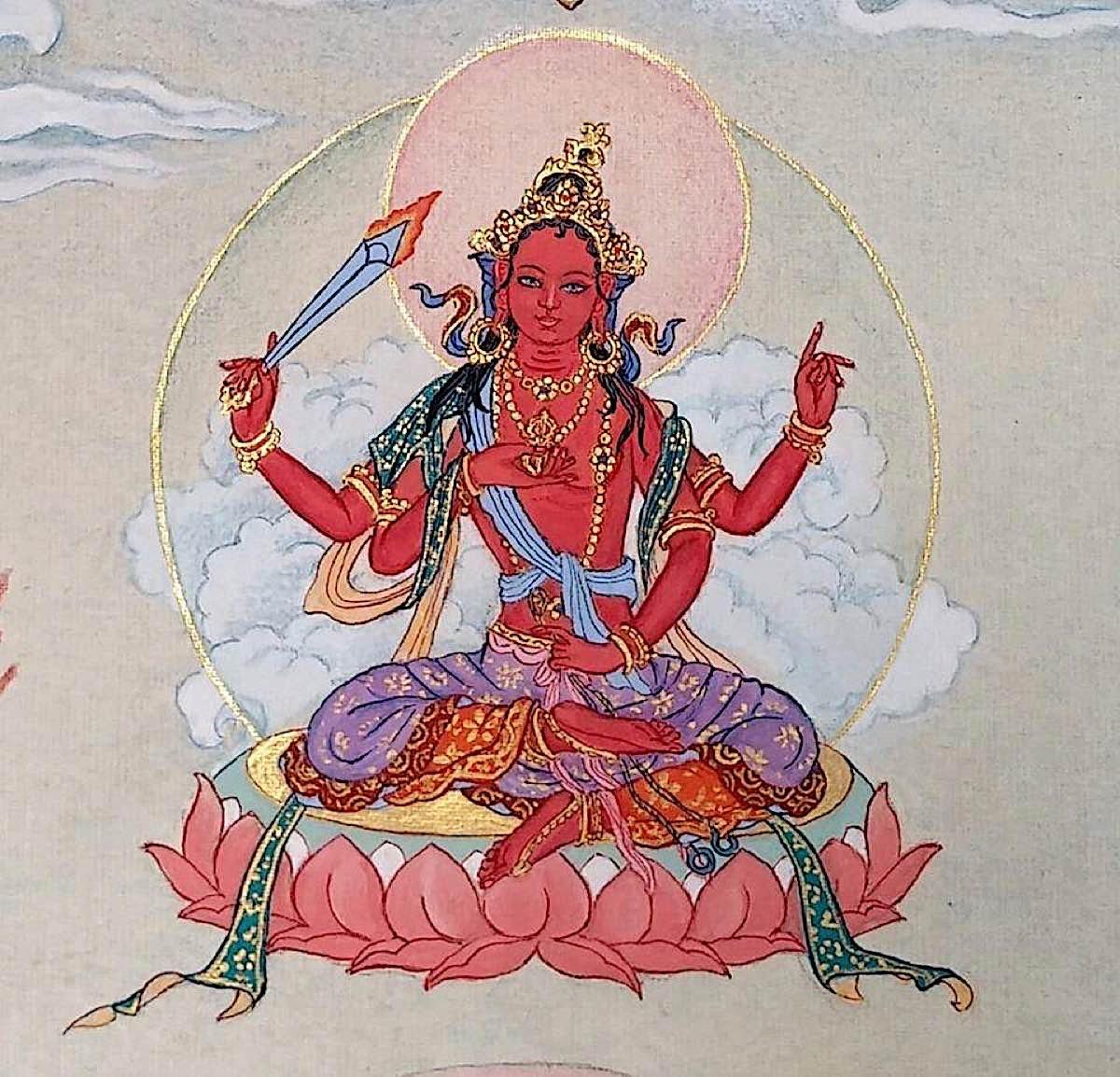 Buddha Weekly 6 Trailokya Vijaya Tara Tara Victorious over Three Worlds 21 Taras Thankha by Angeli Lhadripa Shkonda Buddhism