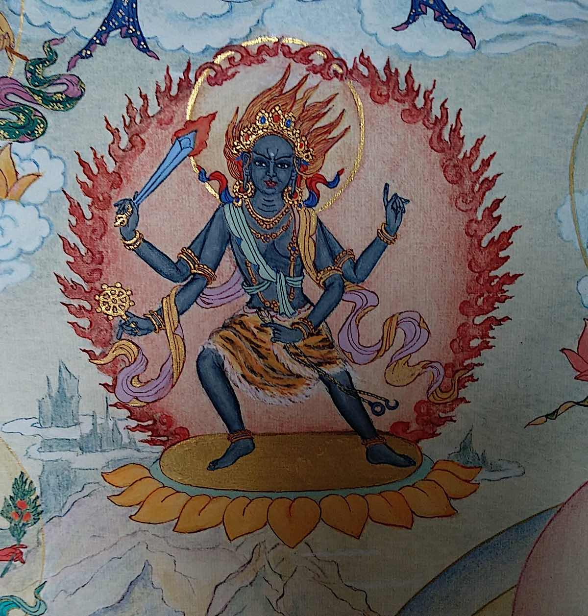 Buddha Weekly 7 Tara Crushing Adversaries Vardi Pramardaka Tara 21 Taras Thankha by Angeli Lhadripa Shkonda Buddhism