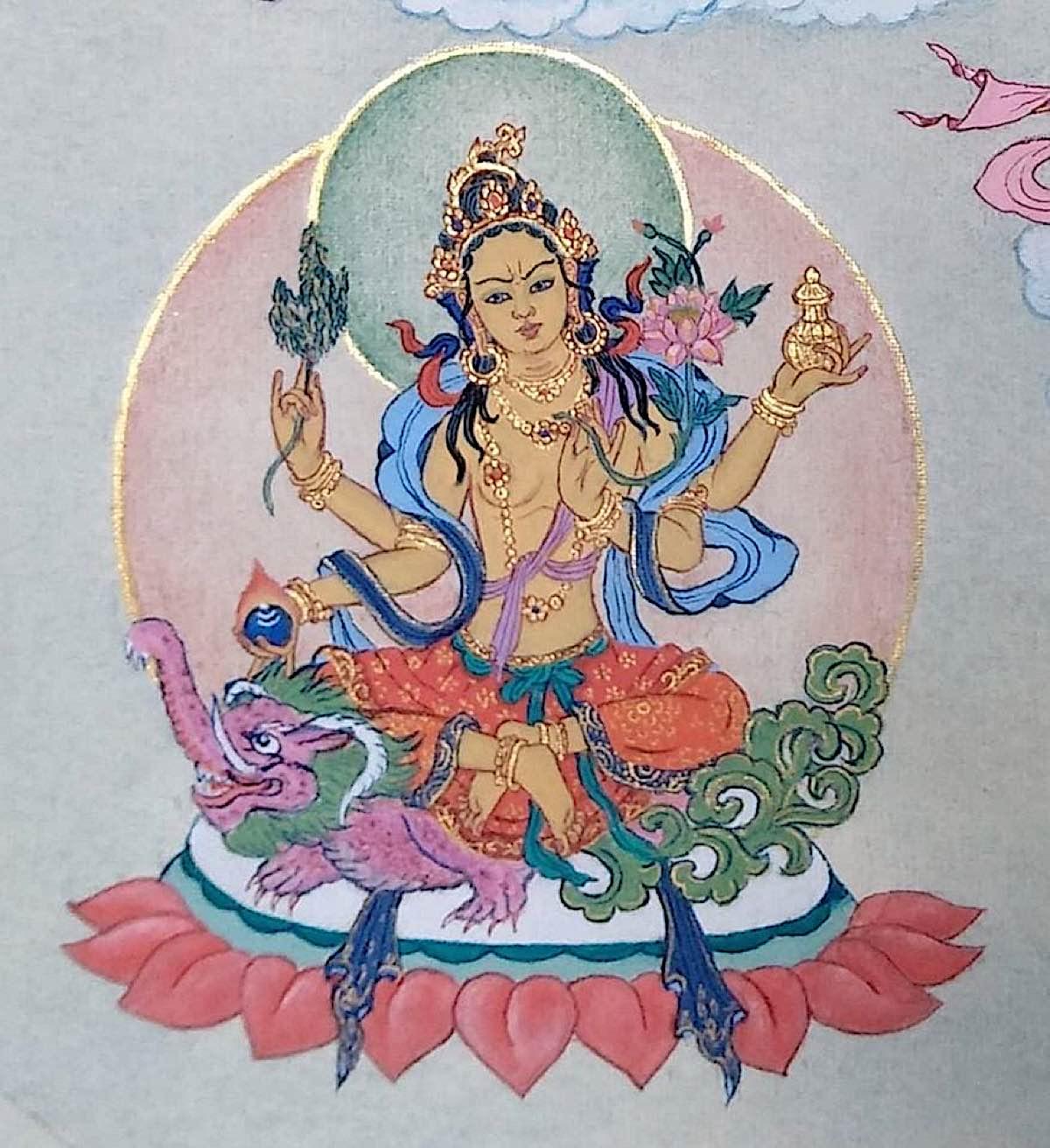 Buddha Weekly 8 Tara Who Crushes all Maras and Bestows Supreme Powers Mara Sudana Vasitottama da Tara 21 Taras Thankha by Angeli Lhadripa Shkonda Buddhism