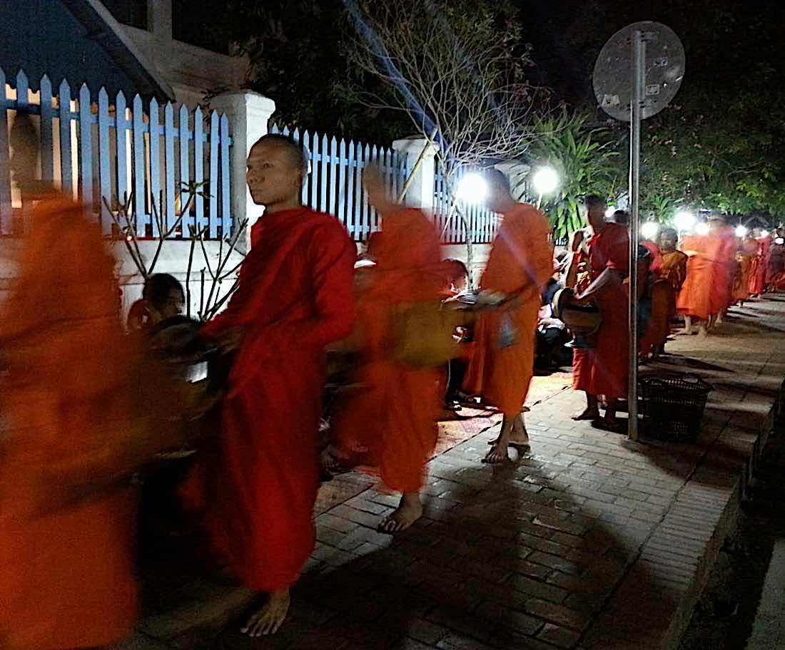 Buddha Weekly Alms giving Laos Buddhism