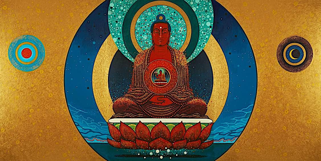 Buddha Weekly Amitabha Buddha in modern style Buddhism