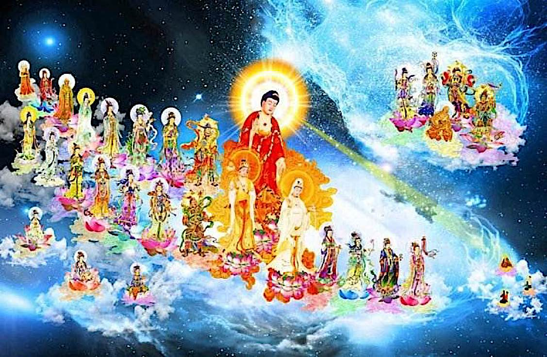 Buddha Weekly Amitabha in the pureland Sukhavati Buddhism