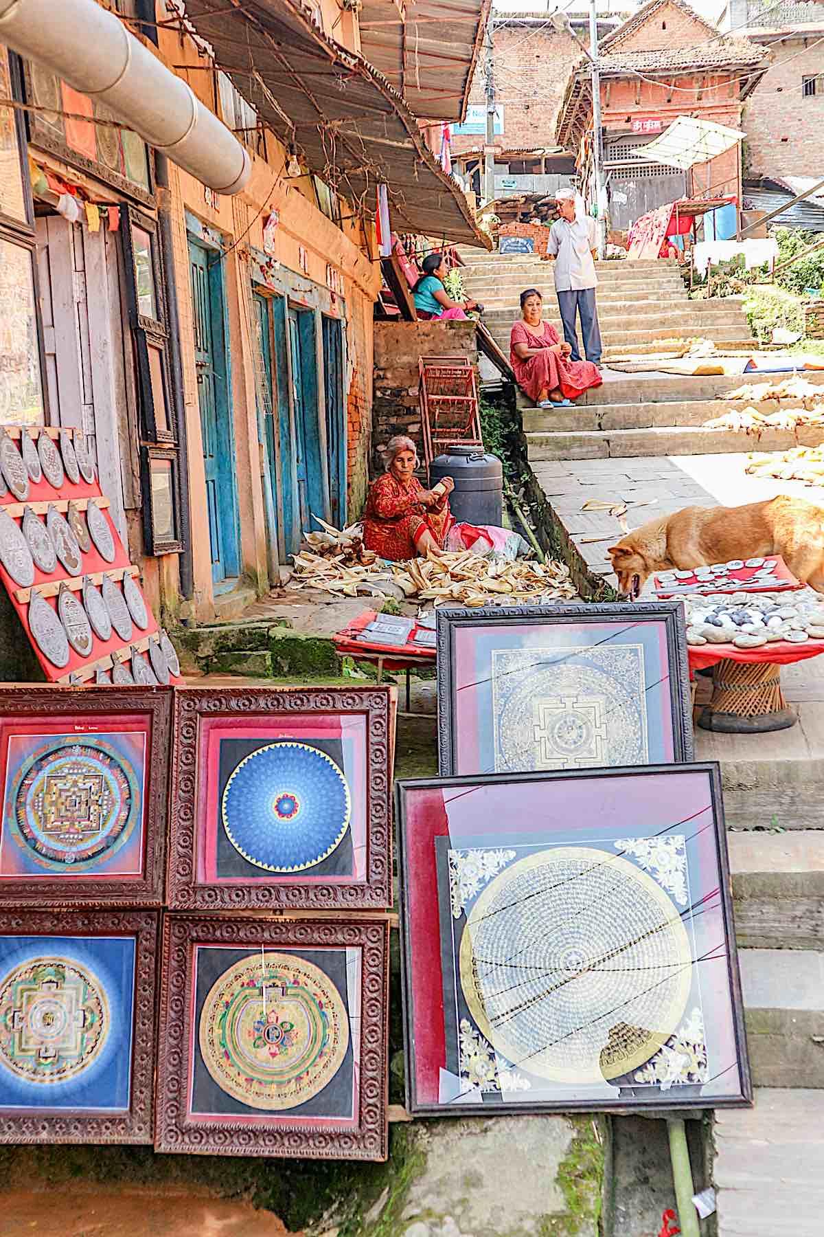 Buddha Weekly Art for sale on street in Kathmandu Nepal by Ipek Morel Diplikaya dreamstime xxl 114263859 Buddhism