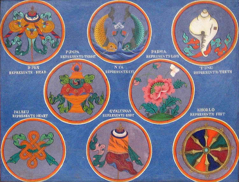 Buddha Weekly Ashtamangala Eight Auspicious Symbols Buddhism