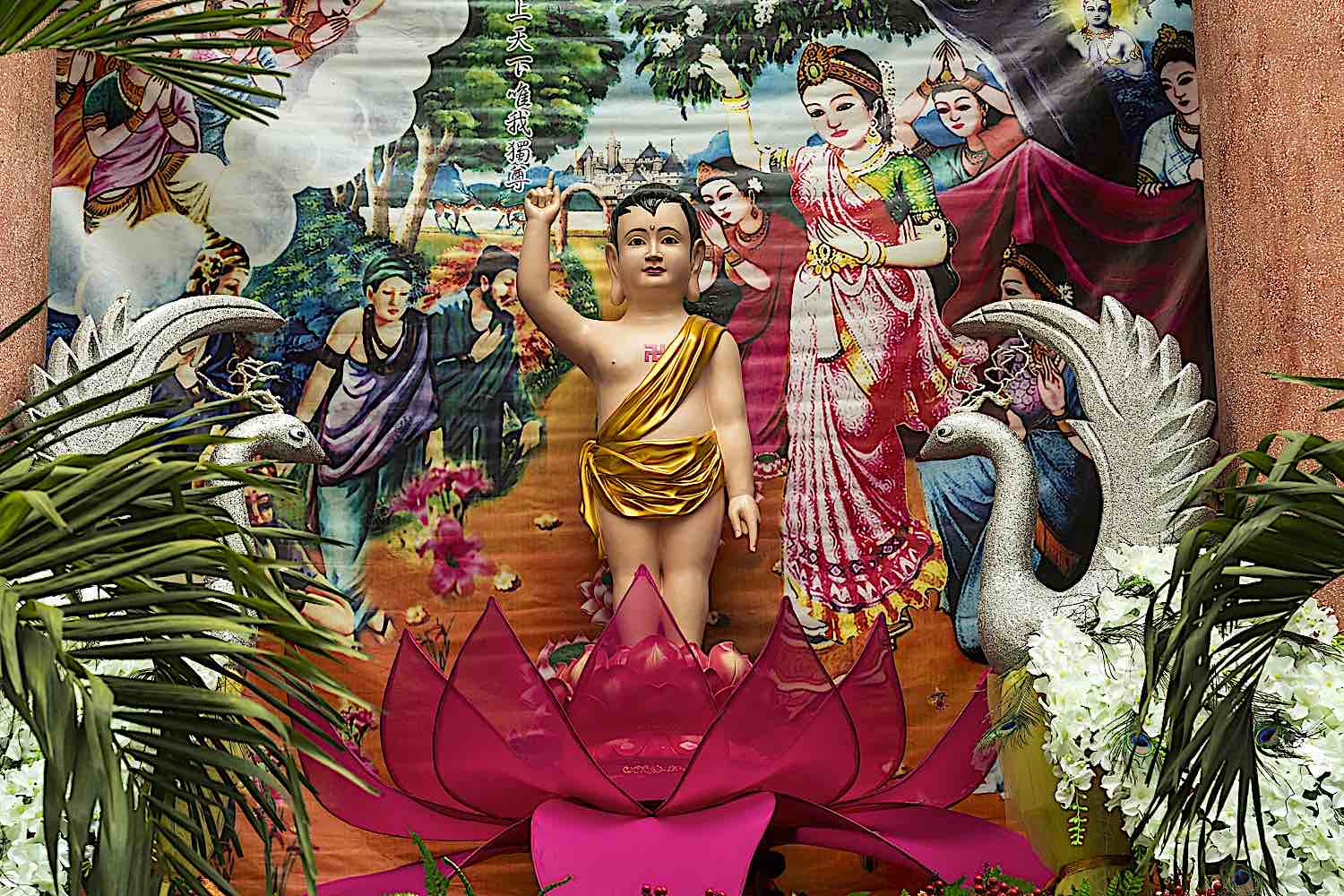 Buddha Weekly Baby Buddha the conqueror took seven steps immediately after birth dreamstime xxl 91402790 Buddhism