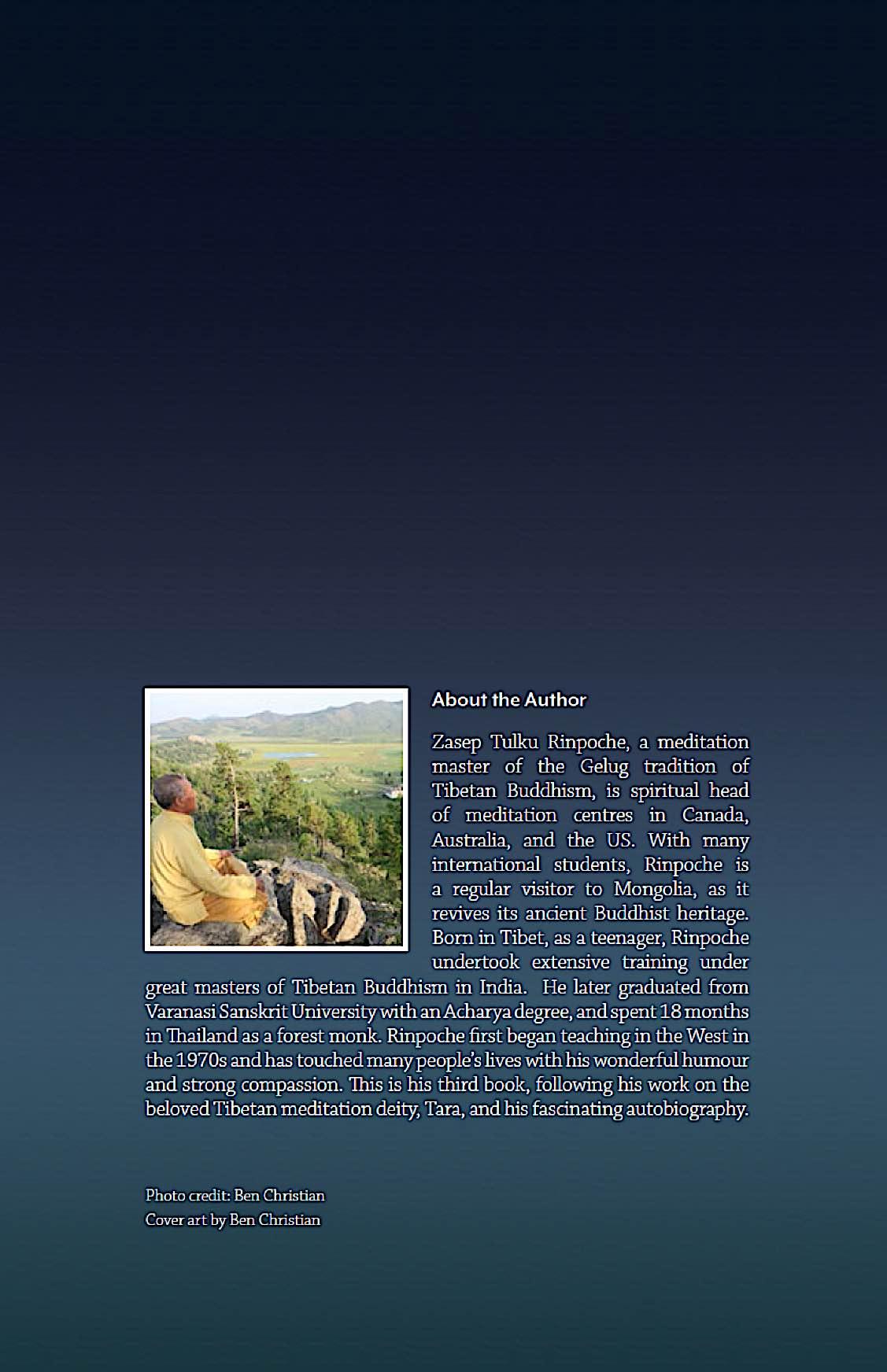 Buddha Weekly Back Cover Gelug Mahamudra book Zasep Tulku Rinpoche Biography Buddhism