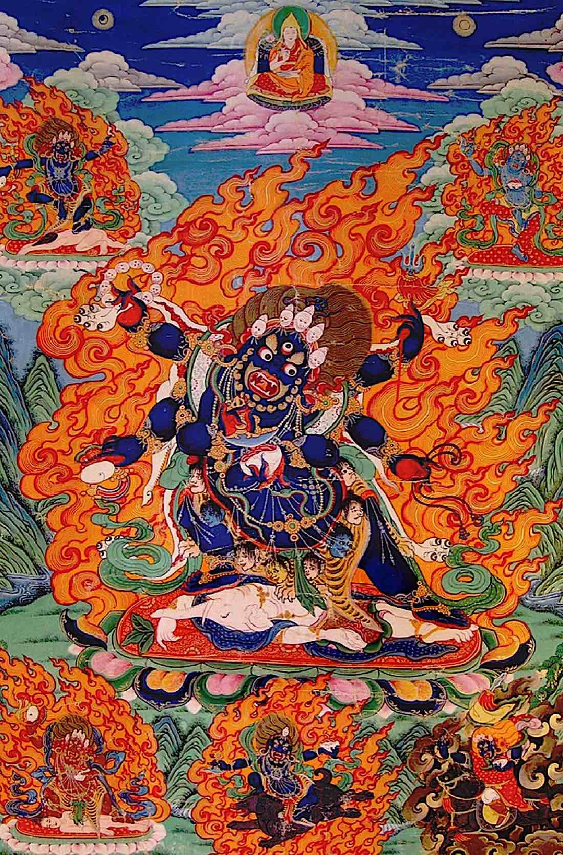 Buddha Weekly Beautiflul Black Mahakala tangkha Buddhism