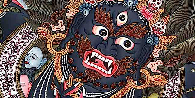 Buddha Weekly Black Mahakala face of ferocious wisdom and compassion Buddhism