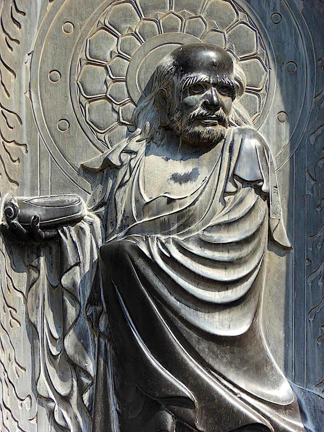 Buddha Weekly Bodhidharma founder of Chan a statue in Shaolin Temple Songshan Denfeng City Henan Province China Buddhism