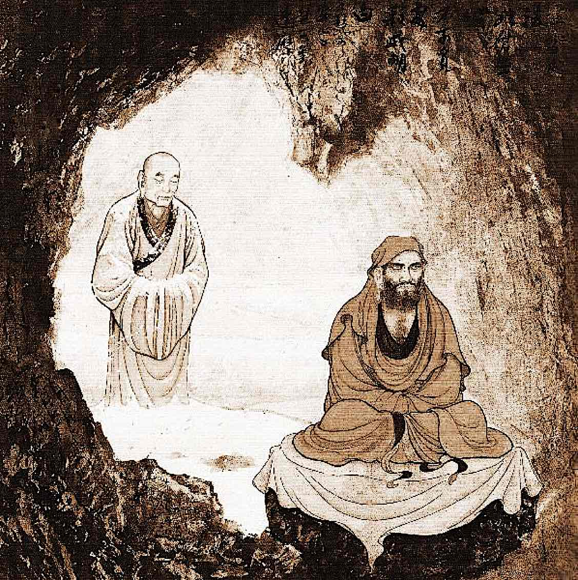 Buddha Weekly Bodhidharma in cave founder of Chan Buddhism