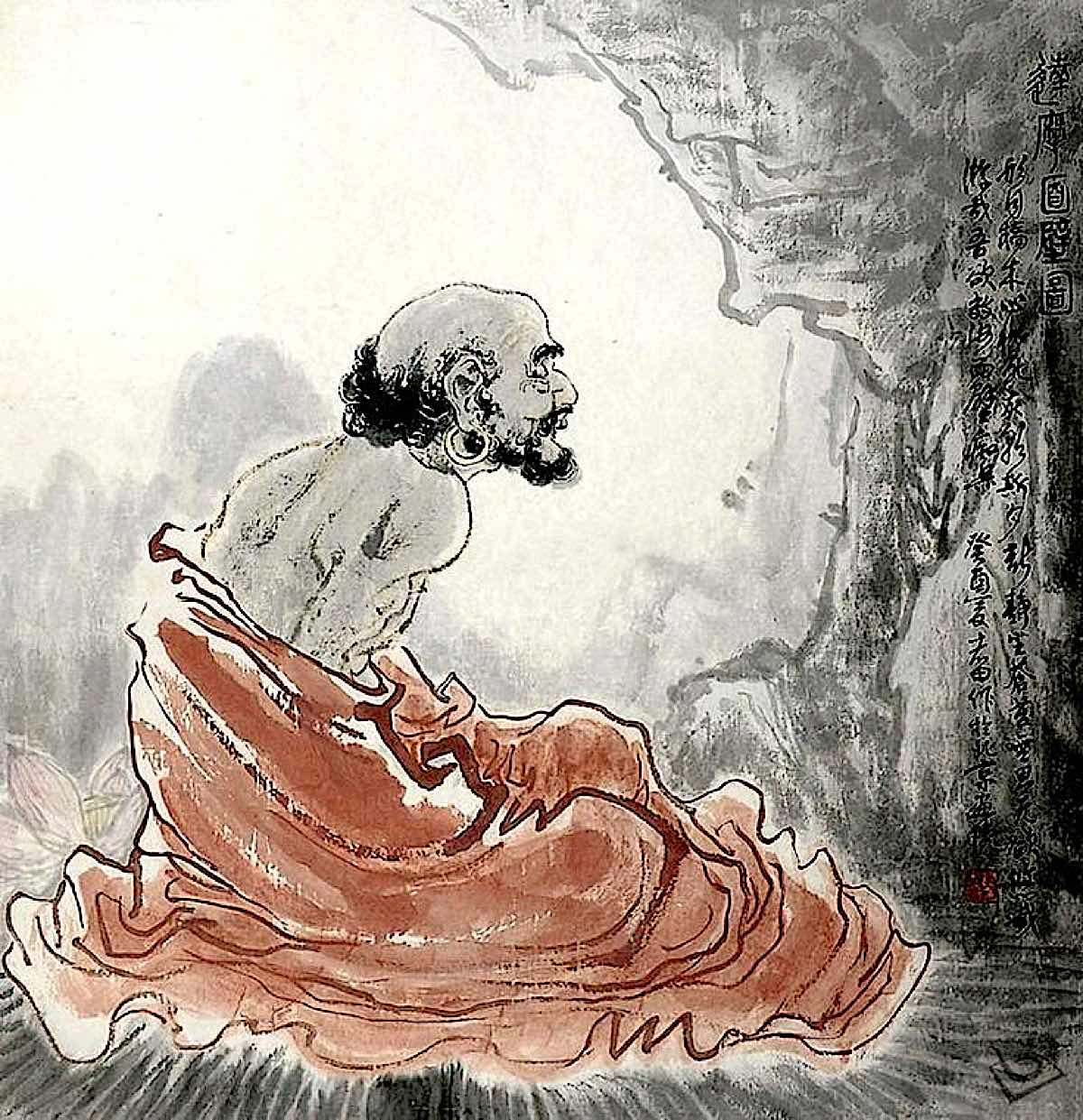 Buddha Weekly Bodhidharma meditating in his cave Buddhism