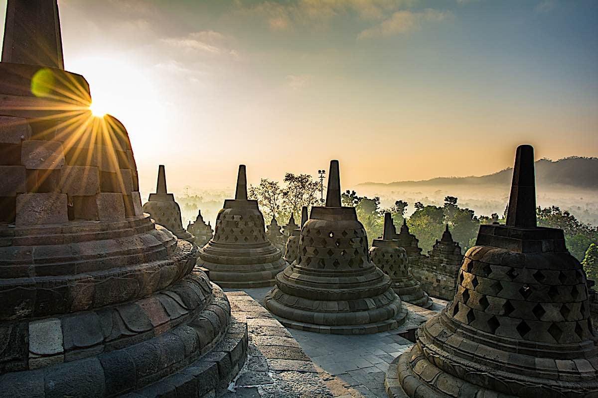 Buddha Weekly Borobudur Buddhist Stupas temple Java Island Indonesia 81795778 Buddhism