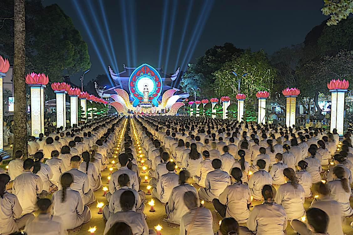 Buddha Weekly Buddha Amitabha night festival Ho Chi Minh City Vietnam Buddhism