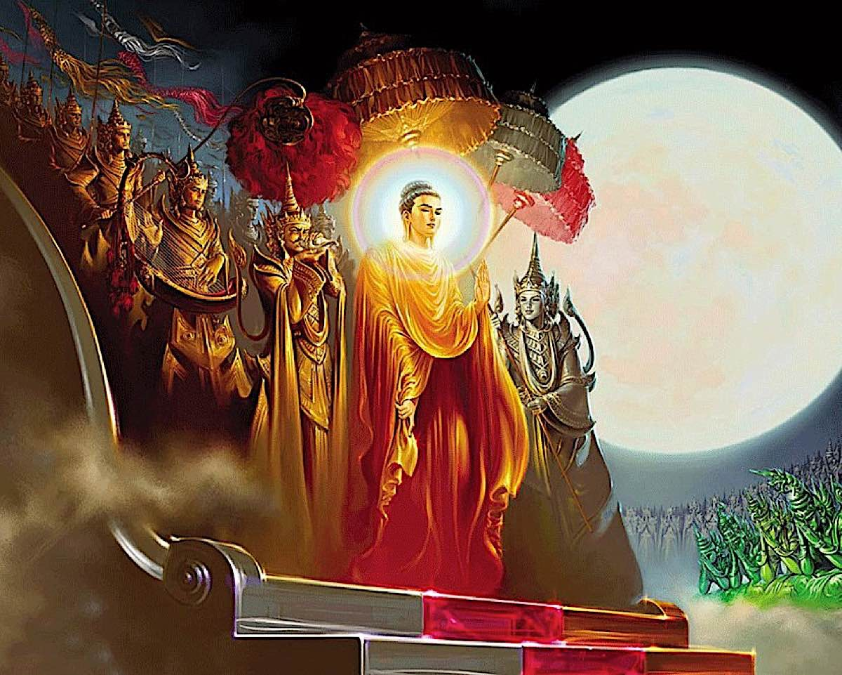 Buddha Weekly Buddha Descent from Tushita Heaven Buddhism