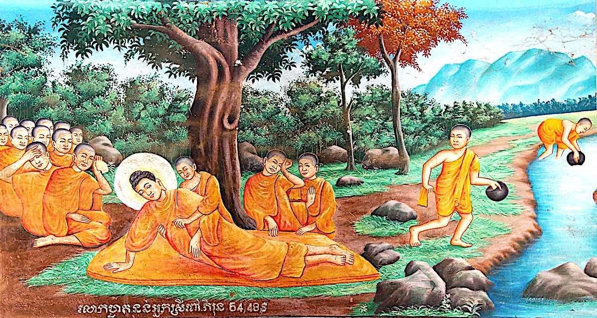 Shakyamuni Buddha passes into Paranirvana after decades of teaching.