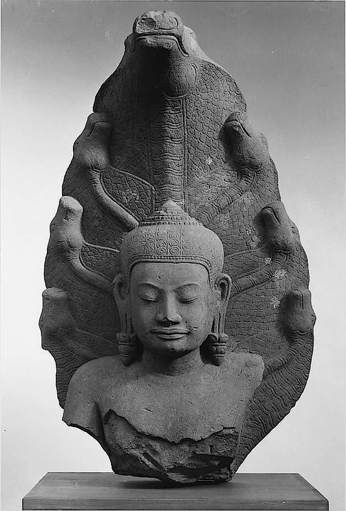 Buddha Weekly Buddha Protected by nine headed Naga public domain photo The Met Buddhism