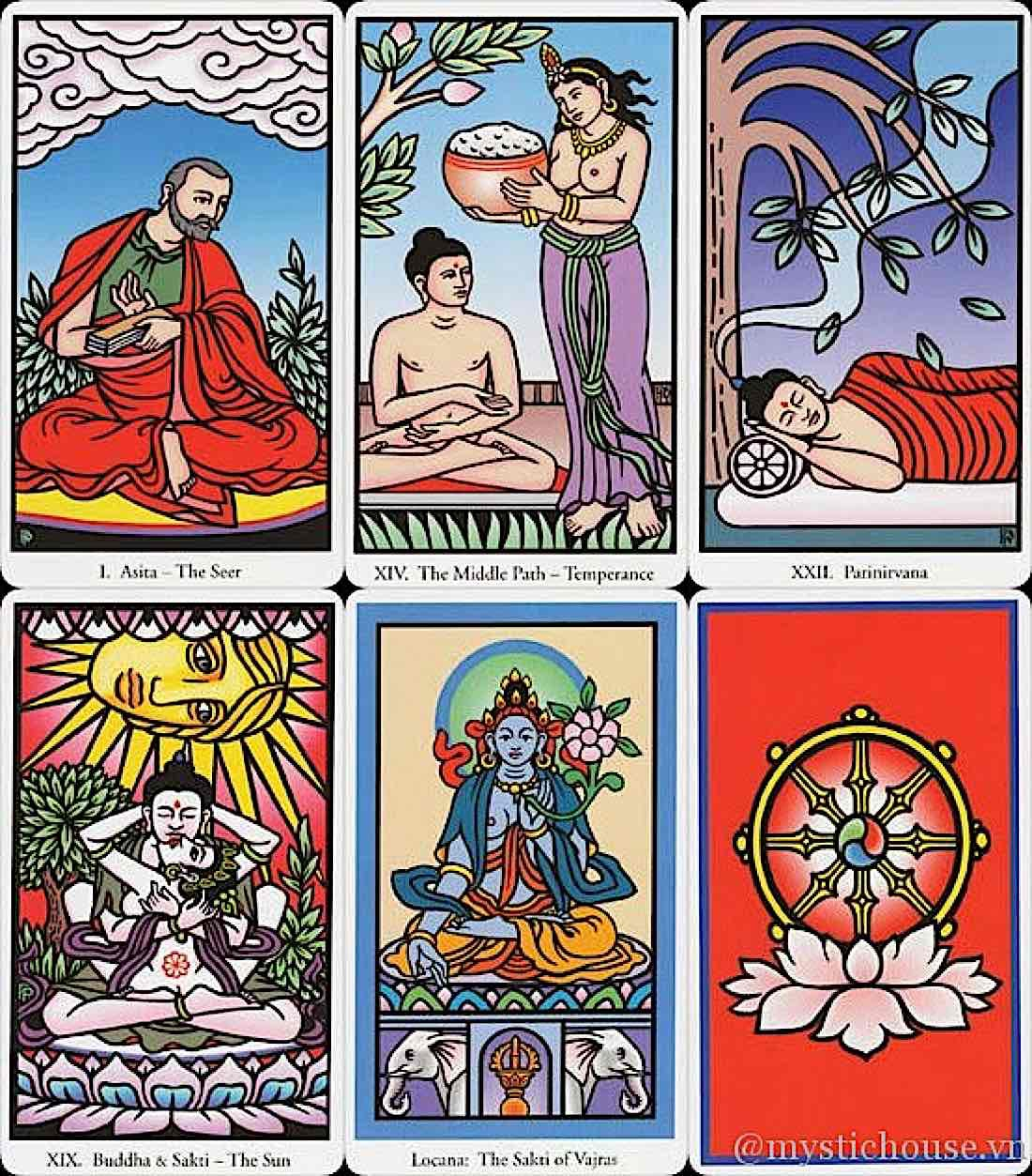 Buddha Weekly Buddha Tarot six cards Buddhism