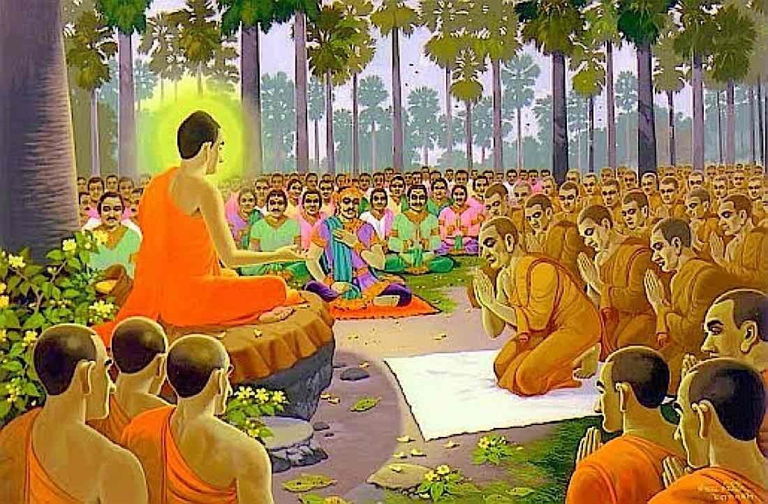 Buddha Weekly Buddha Teaching the monks Buddhism
