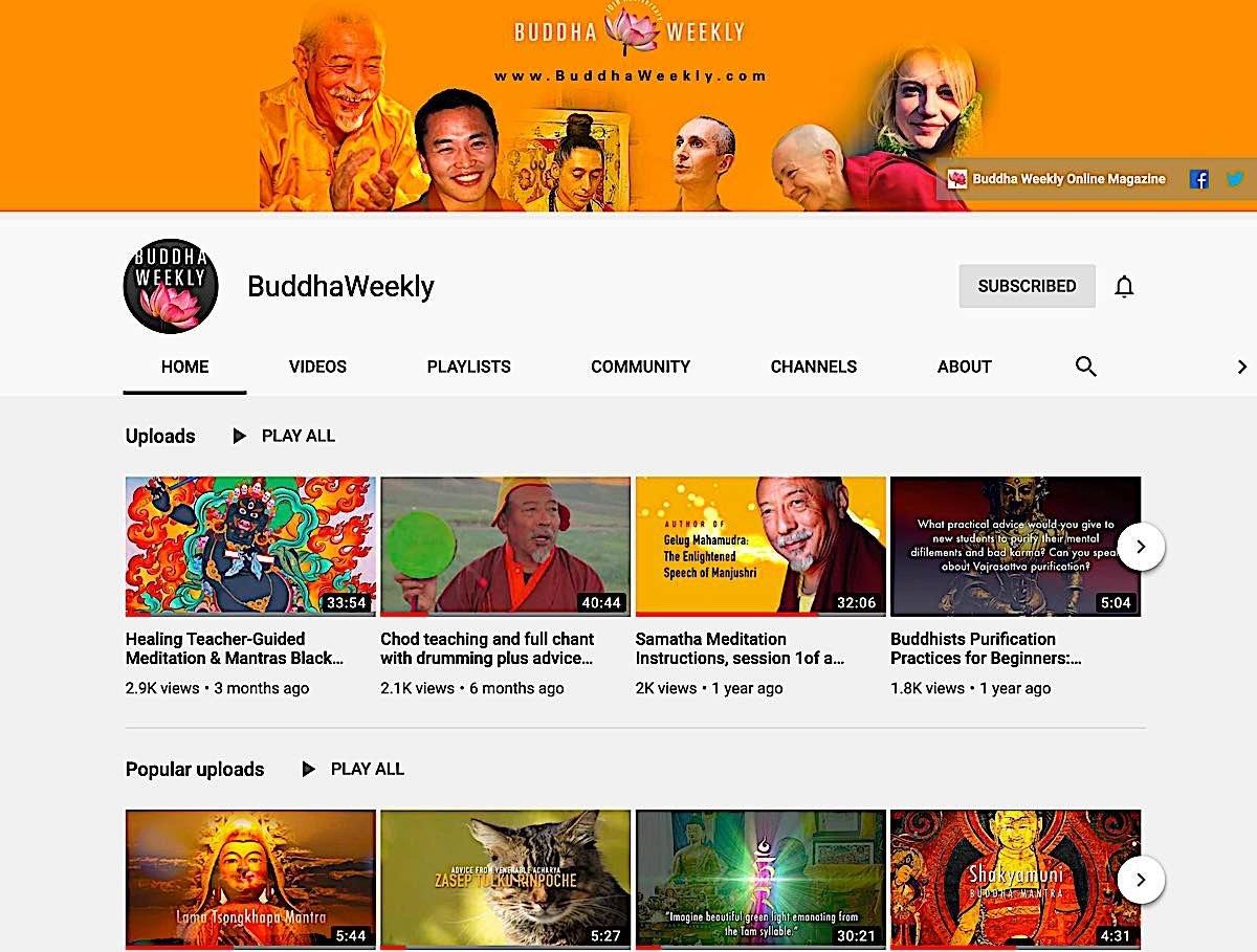 Buddha Weekly Buddha Weekly YouTube Channel Buddhism