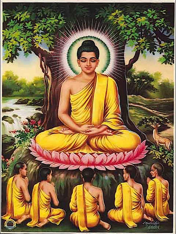 Buddha Weekly Buddha and monks river Buddhism