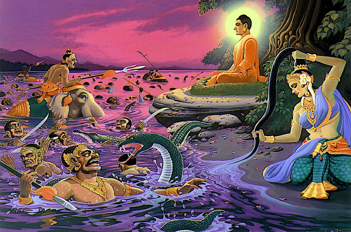 Buddha Weekly Buddha and river under tree Buddhism