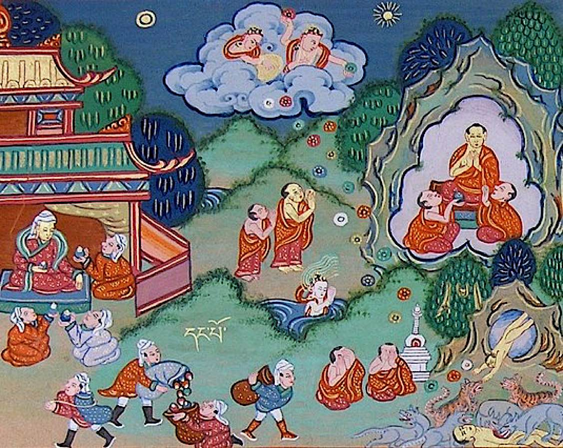 Buddha Weekly Buddha feeds himself to the tiger Jataka tales Buddhism
