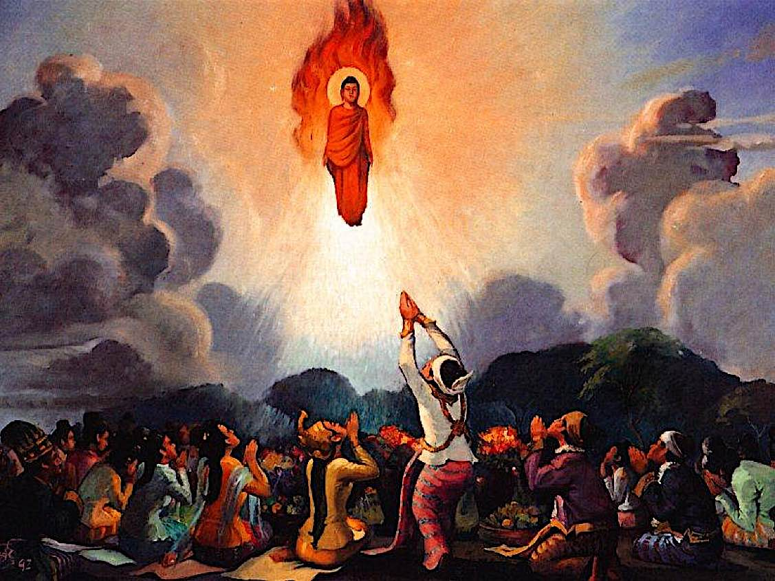 Buddha Weekly Buddha flames and water miracle Buddhism
