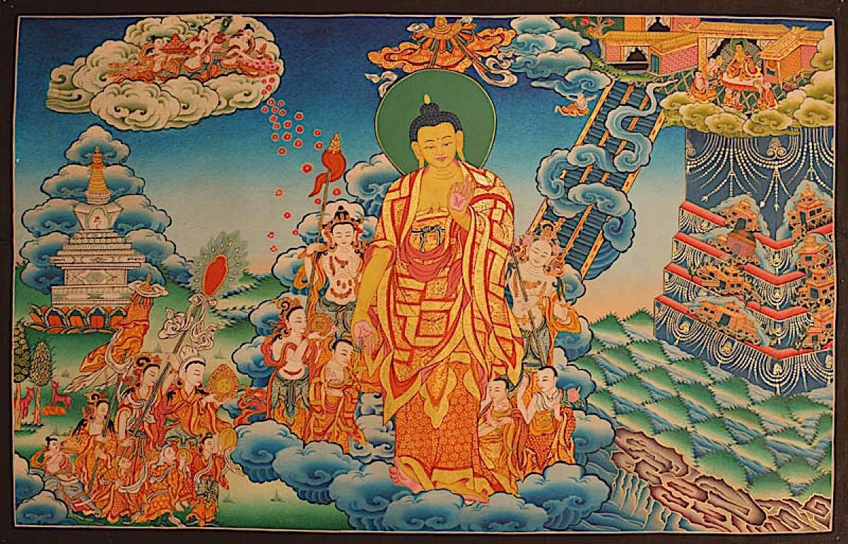 Buddha Weekly Buddha in Tushita descending Buddhism