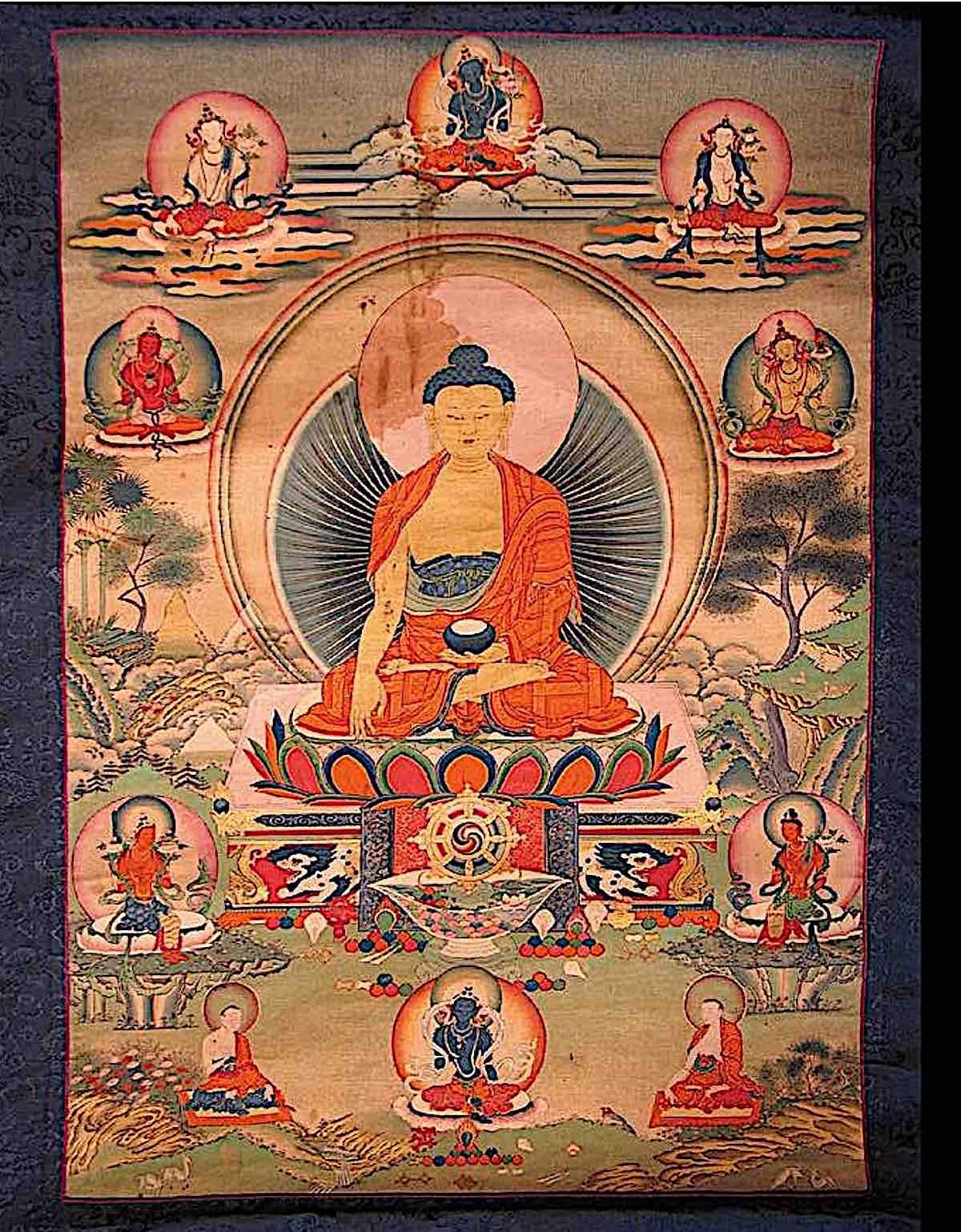 Buddha Weekly Buddha surrounded by the great Bodhisattvas Buddhism