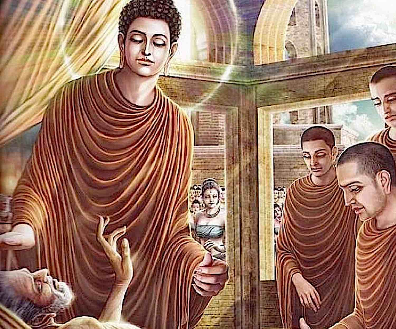 Buddha Weekly Buddha tending the sick man Buddhism