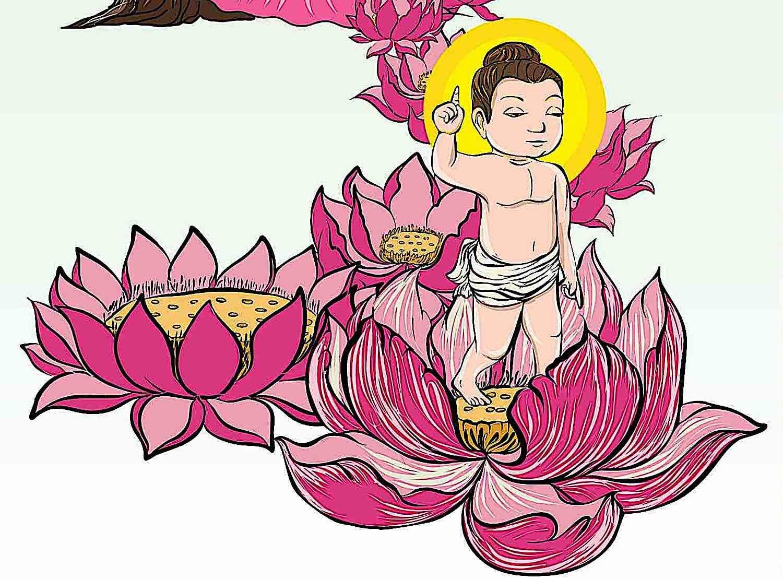 Buddha Weekly Buddhas birth walked seven steps Buddhism
