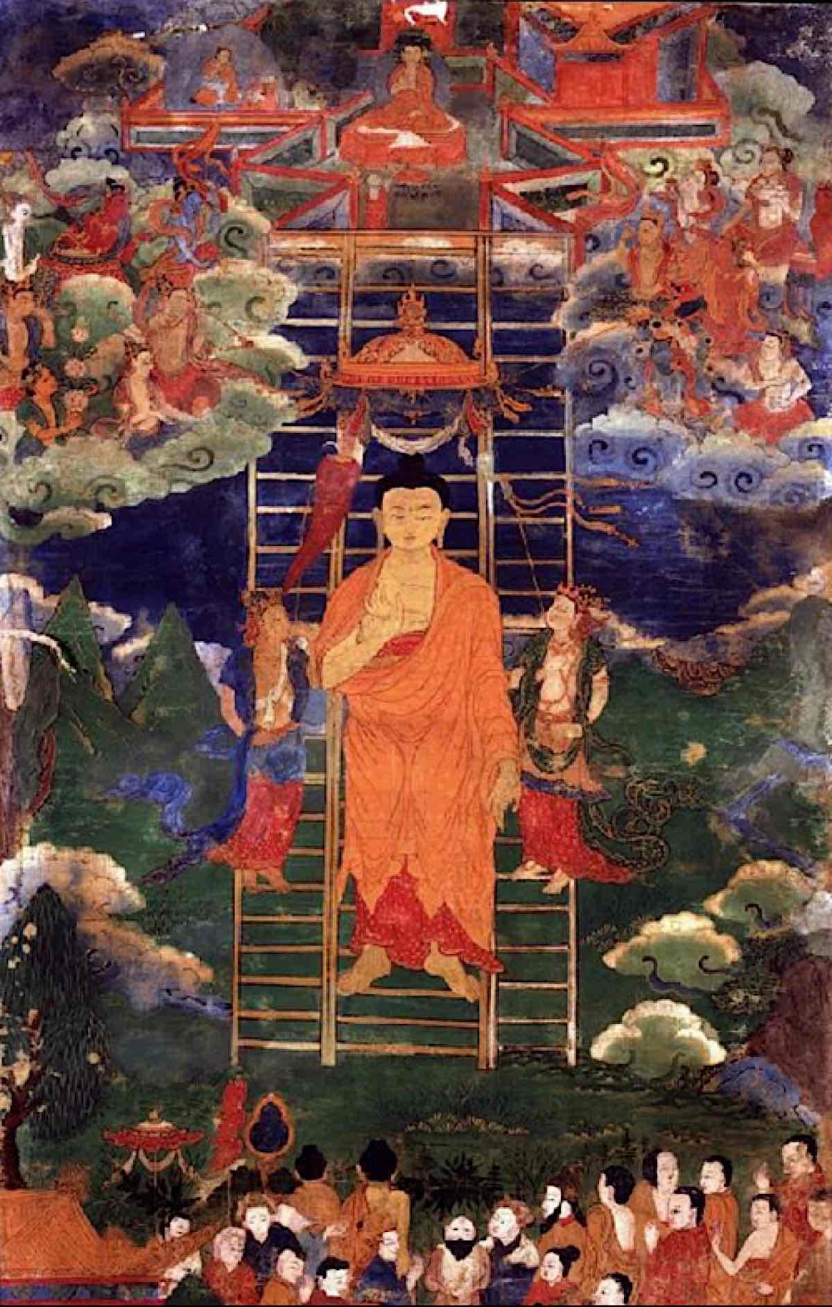 Buddha Weekly Buddhas descent from Tushita 18th century Mongolia Buddhism