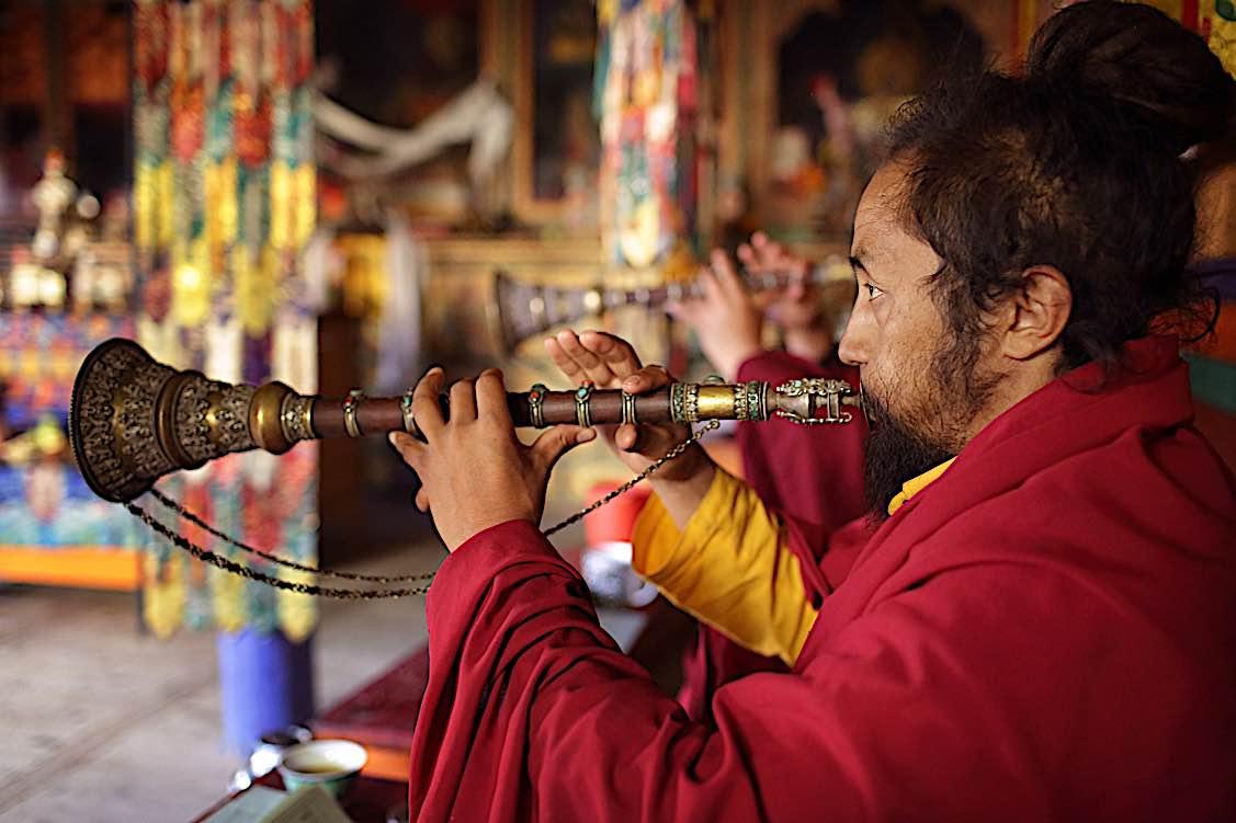 Buddha Weekly Celebrating 3 day annual Mahakala Puja in Lamayuru Monestary Ladakh India Buddhism