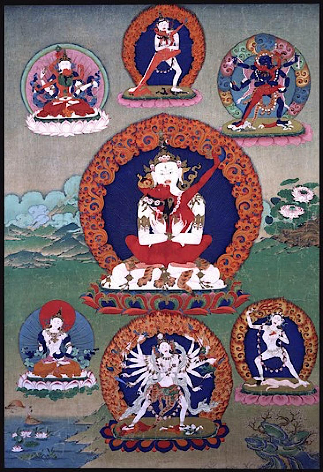 Buddha-Weekly-Chakrasamvara White Heruka and Vajrayogini and