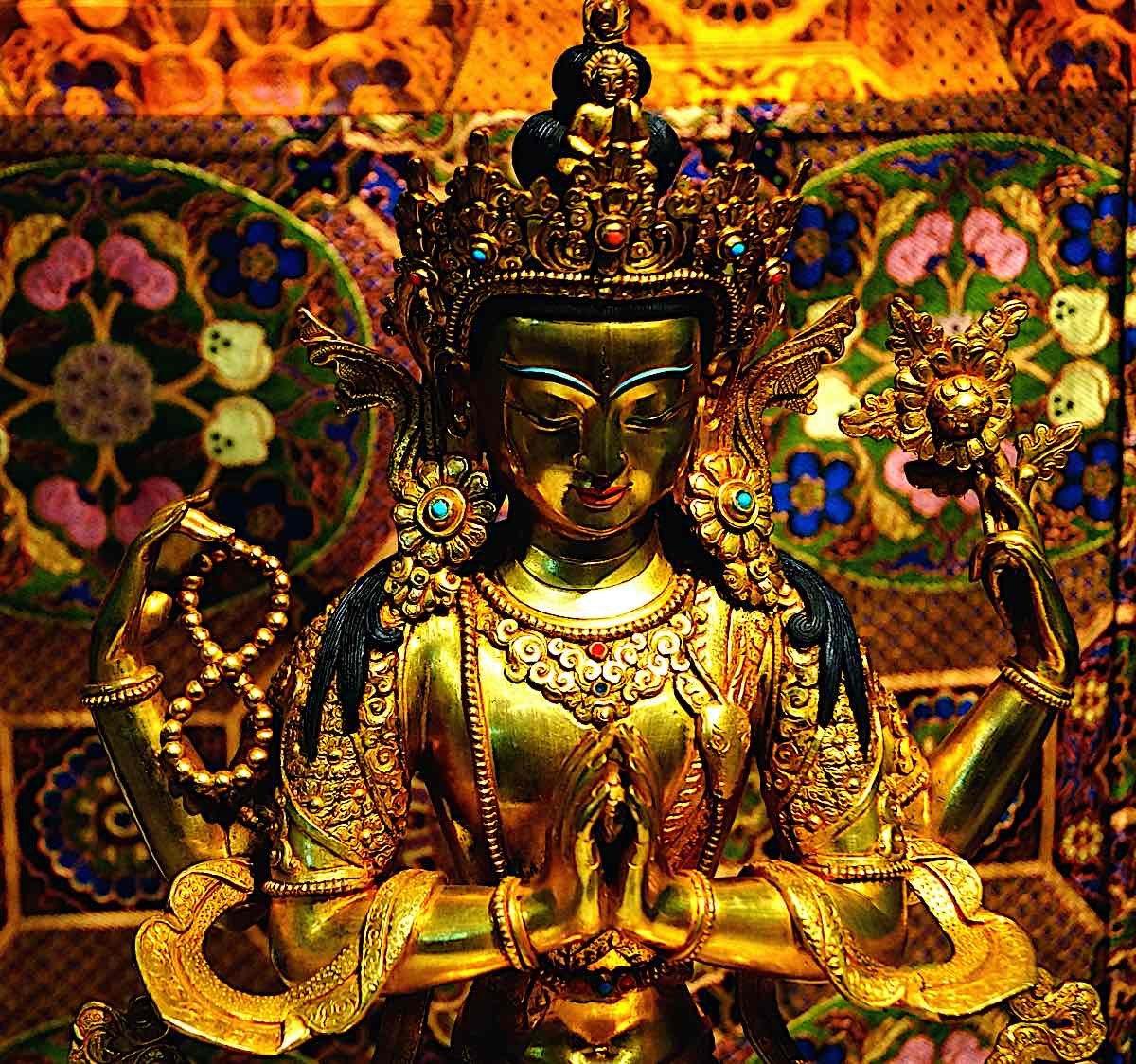 Buddha Weekly Chenrezig four armed Bodhisattva Compassion dreamstime xxl 92228024 Buddhism