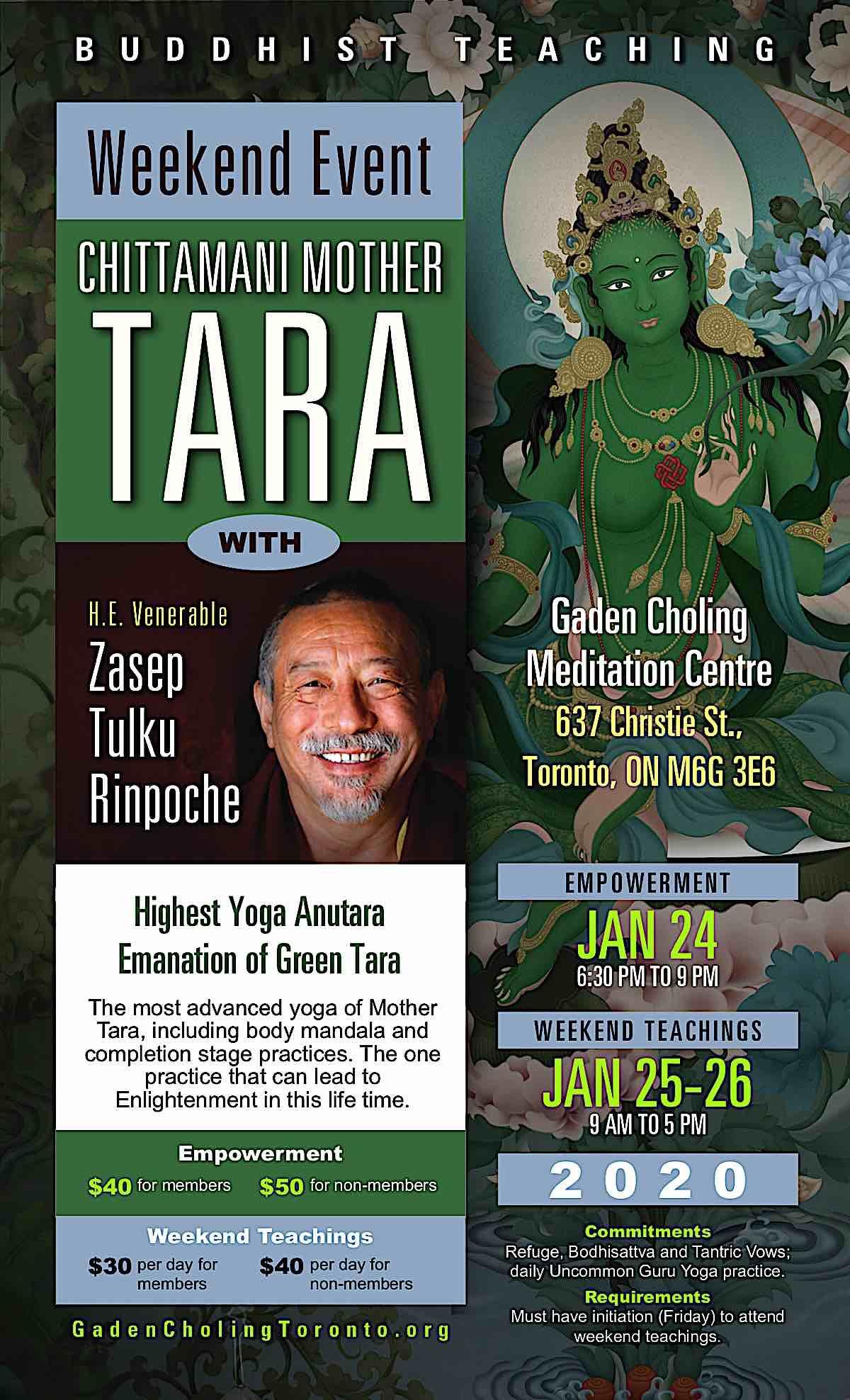 Buddha Weekly Chittamani Tara Poster 2020 2 high Buddhism