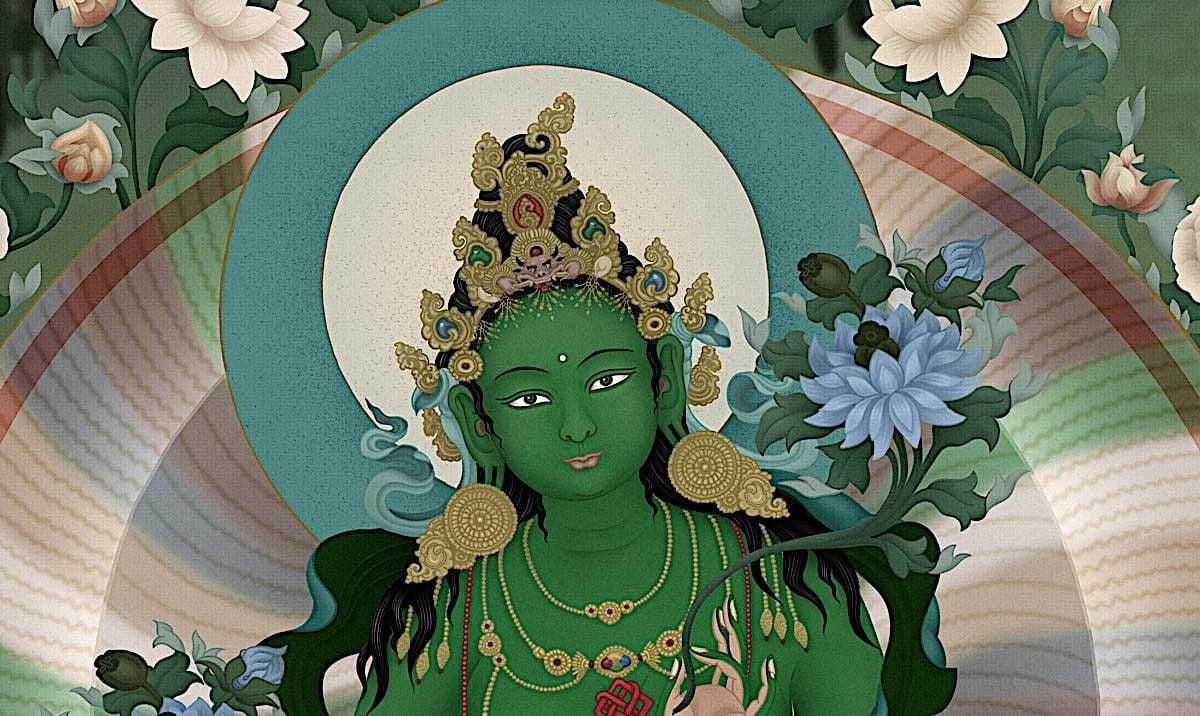 Buddha Weekly Close up Greeen Tara Buddhism