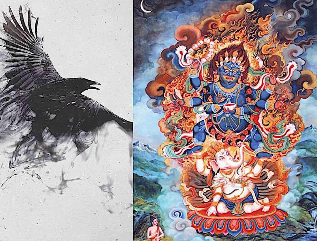 Buddha Weekly Crow and Mahakala full image Buddhism
