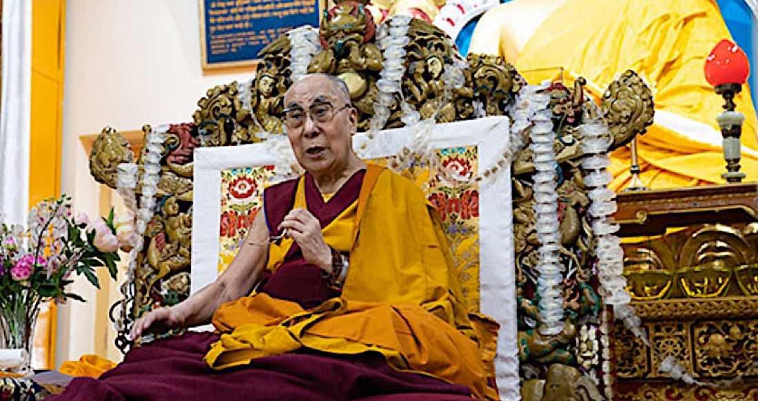 Buddha Weekly Dalai Lama at a Long LIfe prayer puja in Dharmasala July 5 2019 Tenzin Choejor Buddhism