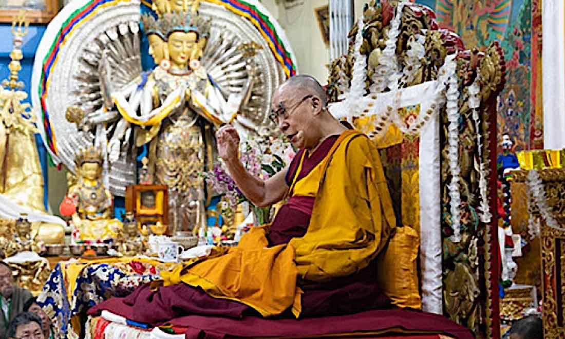 Buddha Weekly Dalai Lama speaks at the Main Tibetan Temple in Dharmasala Tenzin Choejor Buddhism