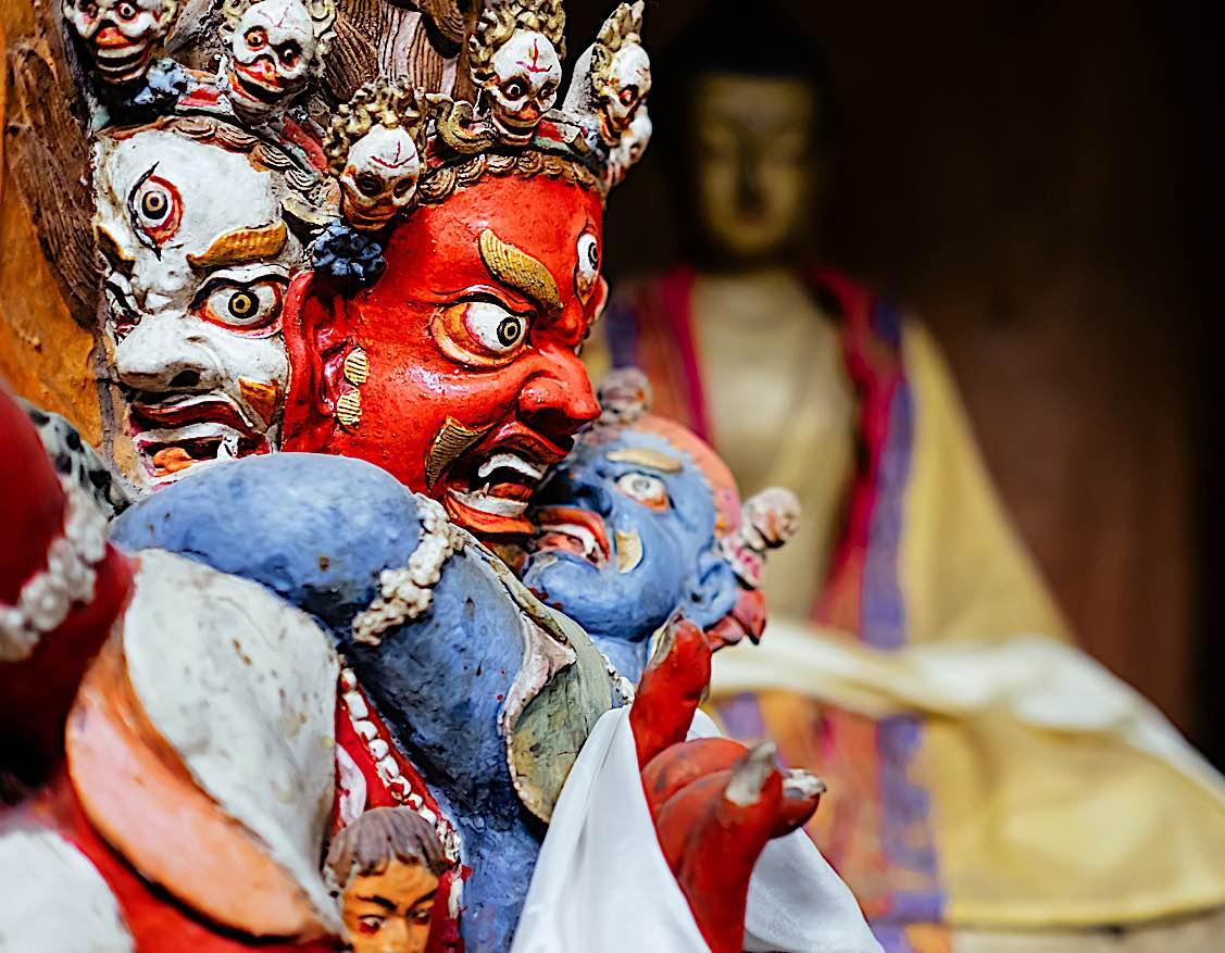 Buddha Weekly Dharmapala in Tsemo Hompa in Leh Buddhism