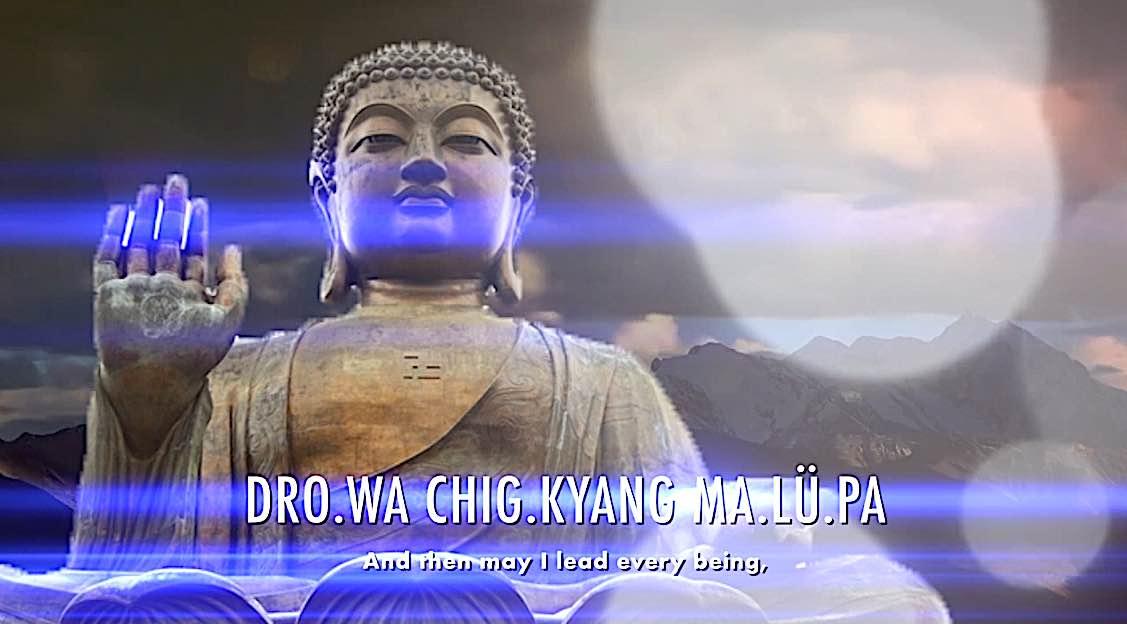 Buddha Weekly Dro wa chig kyang ma lu pa then may I lead every being Dedication of Merit Buddhism