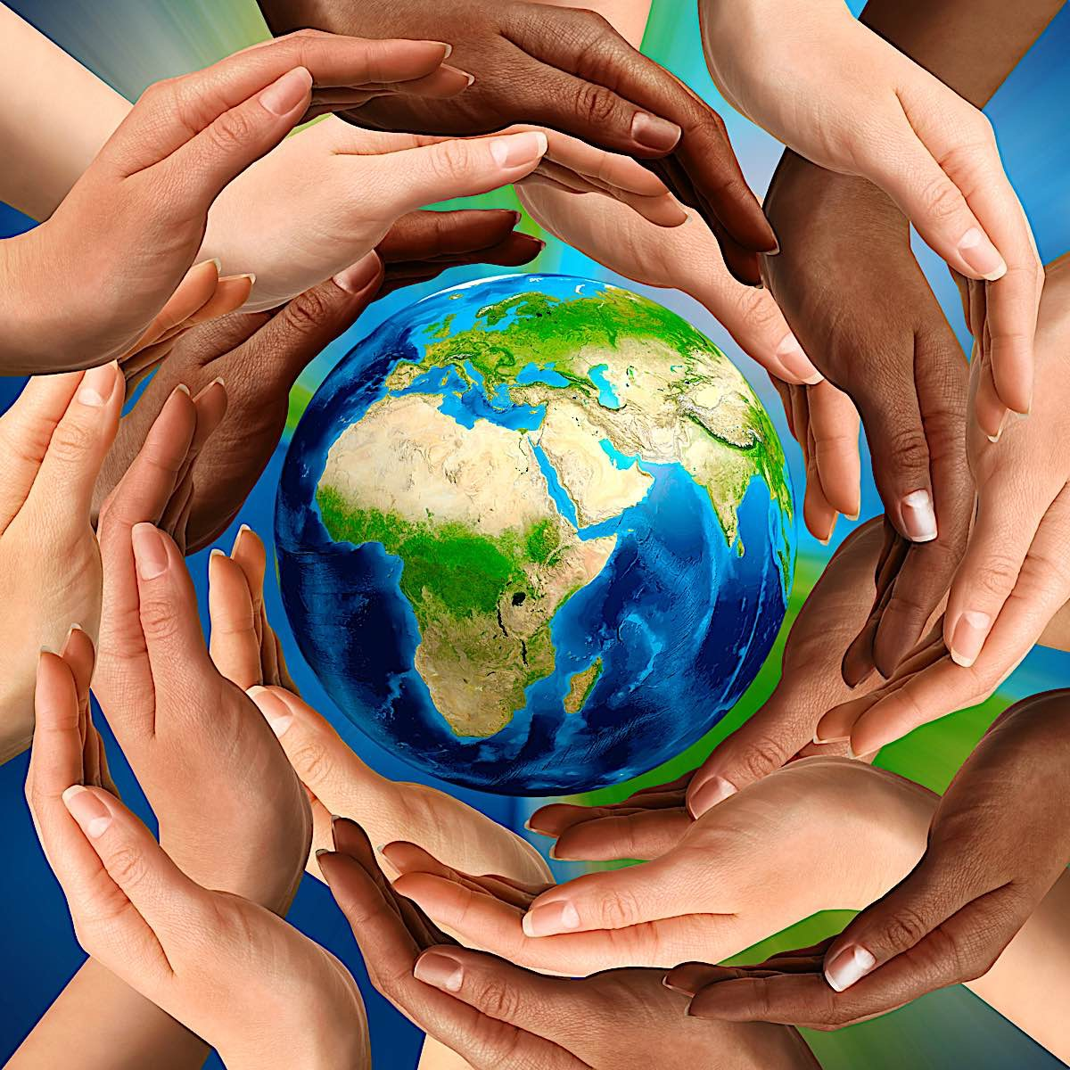 Buddha Weekly Earth and caring hands Buddhism