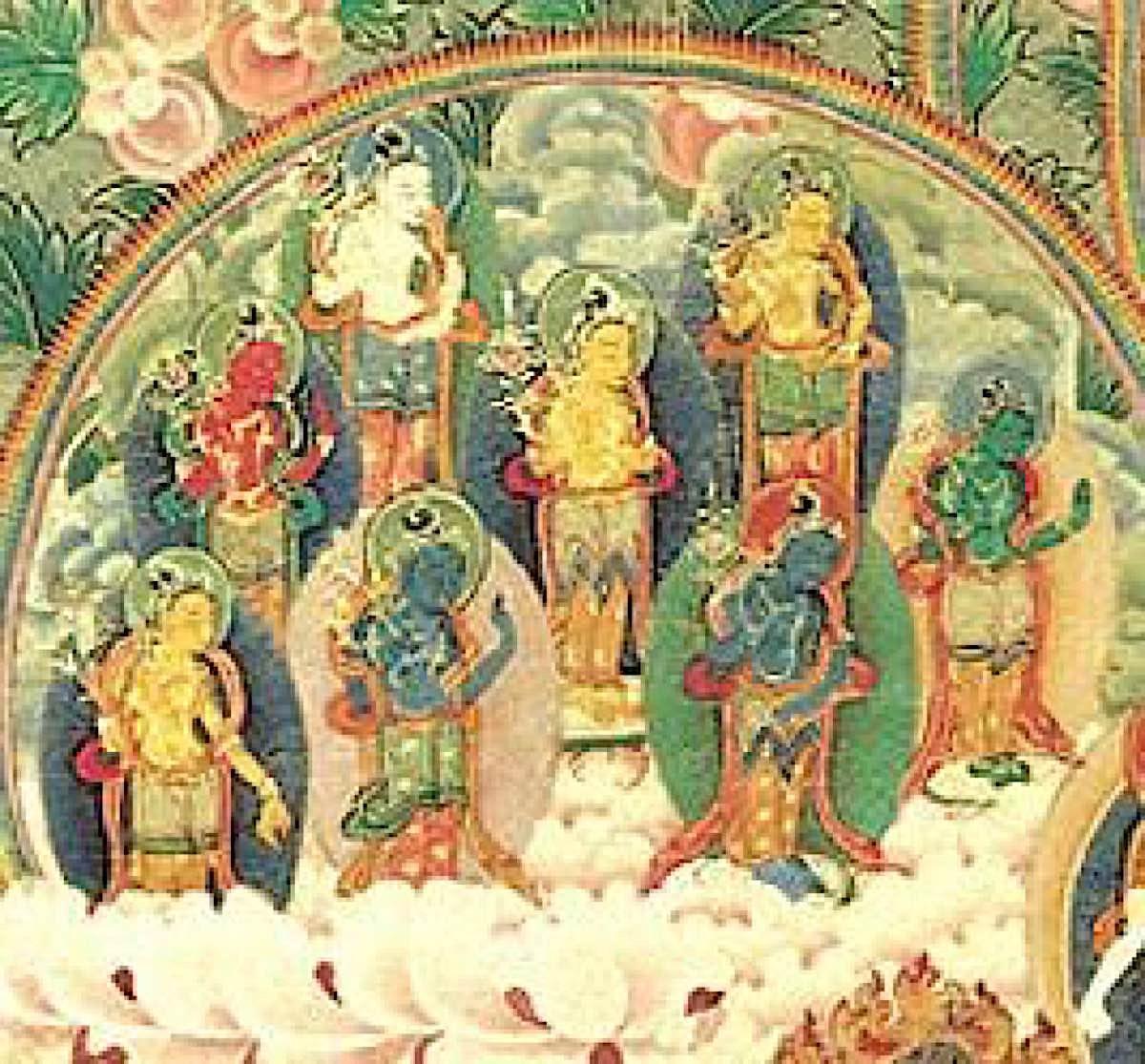 Buddha Weekly Eight Great Bodhisattvas together Buddhism