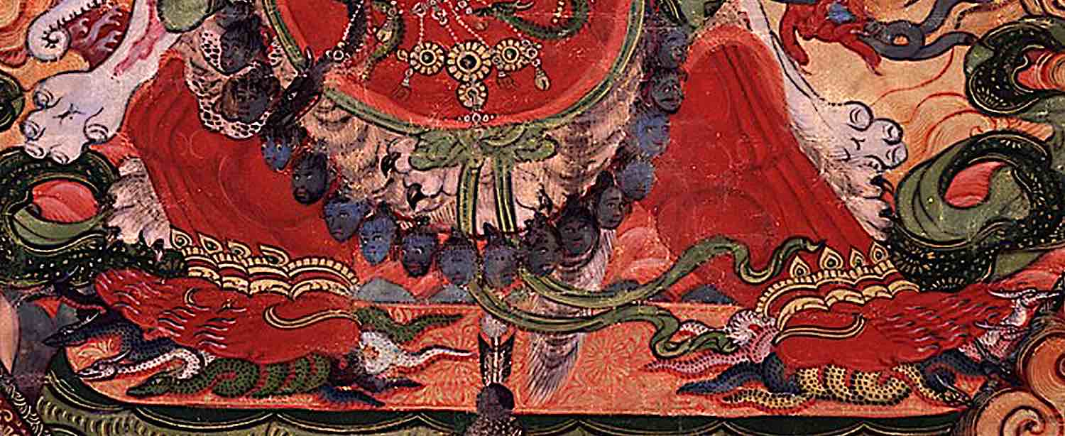 Buddha Weekly Eight legs stomp on the eight Nagas of suffering Buddhism